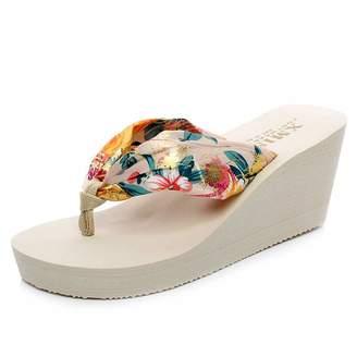 b076690b8 Bohemia F-OXMY Womens Fashion Summer Platform Wedges Flip Flops Outdoor  Beach Non-Slip