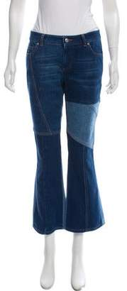 Alexander McQueen Mid-Rise Cropped Flare Jeans