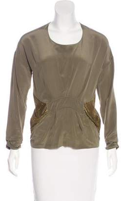 IRO Long Sleeve Silk Blouse