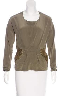 IRO Long Sleeve Silk Blouse