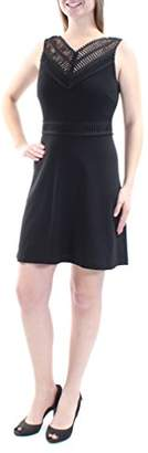 GUESS Women's Textured Fit Flare Dress