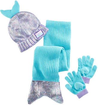 LTB Accessory Innovations Little & Big Girls 3-Pc. Mermaid Hat, Scarf & Gloves Set