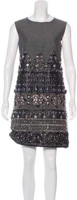 Alberta Ferretti Embellished Silk Dress