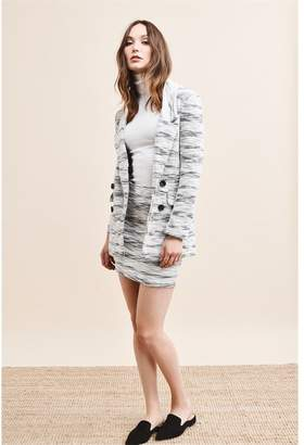 Dynamite Textured Faux Double Breast Blazer - FINAL SALE BLACK & WHITE MIX
