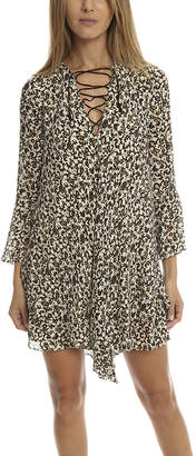 Derek Lam 10 Crosby Bell Sleeve Lace up Dress