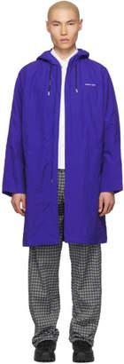 Off-White Blue Diag Rain Coat