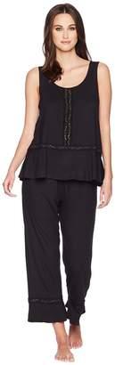 Kate Spade Lace Trimmed Long Pajama Set Women's Pajama Sets
