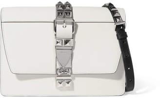 Prada Elektra Large Studded Leather Shoulder Bag - White