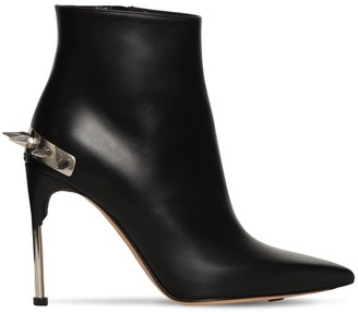 Alexander McQueen 105MM SPIKED LEATHER ANKLE BOOTS