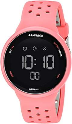 Armitron Sport Unisex 40/8423PNK Grey Accented Digital Chronograph Light Pink Silicone Strap Watch