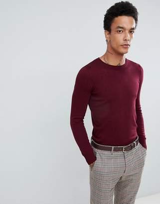 Gianni Feraud Premium Muscle Fit Stretch Crew Neck Sweater