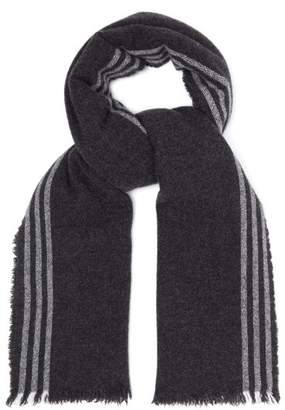 BeauFort Begg & Co. Washed Wool And Cashmere Blend Scarf - Mens - Grey