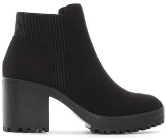 Timberland DF By Daniel Cotting Black Suedette Platform Ankle Boots