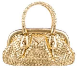 Prada Madras Intreccio Handle Bag