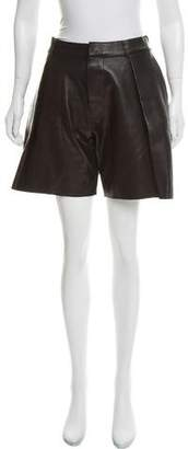 DSQUARED2 Leather High-Rise Shorts