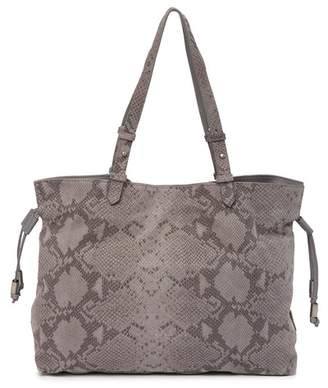 Liebeskind Berlin Minnesota Snake Embossed Leather Satchel