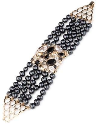 Carolee Cultured Freshwater Pearl Multi Row Bracelet