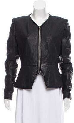 Faith Connexion Structured Leather Jacket