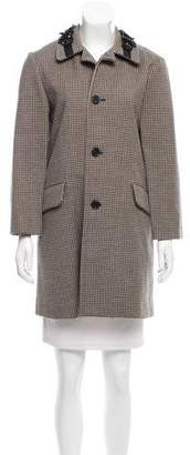 Marni Embellished Houndstooth Coat