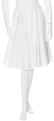 pradaPrada Pleated Knee-Length Skirt
