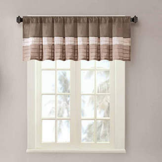 Madison Park Eastridge Polyoni Pintuck-Striped Rod-Pocket Valance