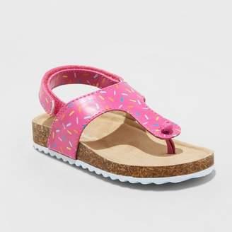 Cat & Jack Toddler Girls' Raylynn Thong Footbed Slide Sandals Pink