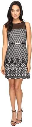 Jessica Simpson Diamond Bonded Lace Dress Women's Dress