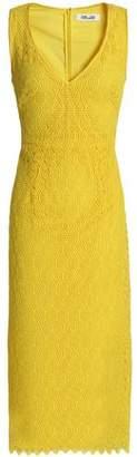Diane von Furstenberg Guipure Lace Midi Dress