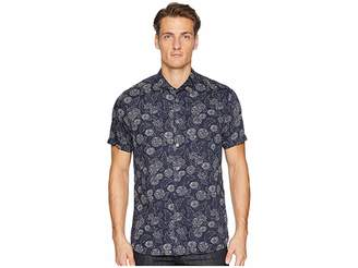 Ted Baker Teval Short Sleeve Dotted Floral Printed Shirt