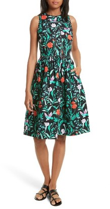 Women's Kate Spade Jardin Cotton Poplin Dress $398 thestylecure.com