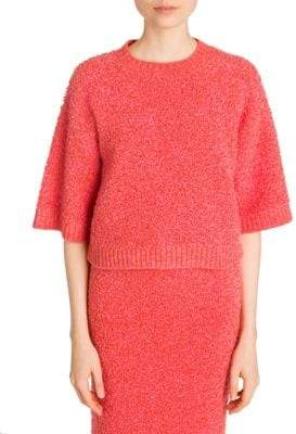 Prada Cropped Boucle-Knit Sweater