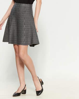 Vila Milano Fit & Flare Patterned Skirt