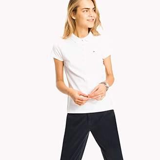 c0f31146adf4 Tommy Hilfiger Women s New Chiara Str Pq Polo Ss Polo Short Sleeve Polo  Shirt