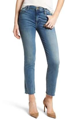 Frame Le High Raw Hem Straight Leg Jeans