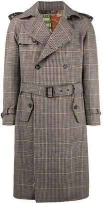 Etro checked trench coat