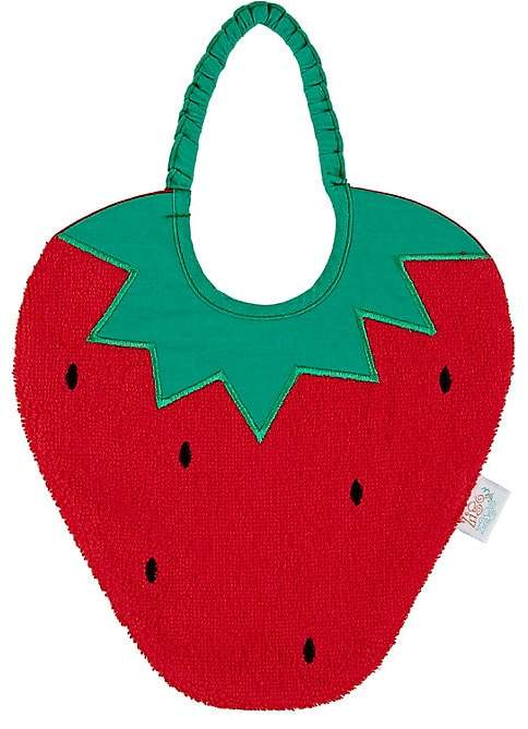 Zigozago Strawberry Bib