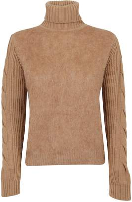 Max Mara Beige Wool And Mohair Sweater