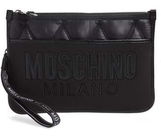 Moschino Quilted Nylon Clutch