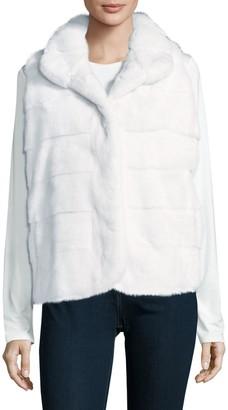 Wolfie Fur Latch Front Dyed Mink Fur Vest