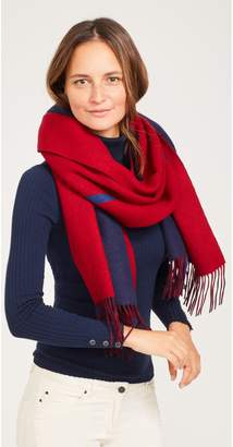 J.Mclaughlin Alps Wool Scarf in Odd Stripes