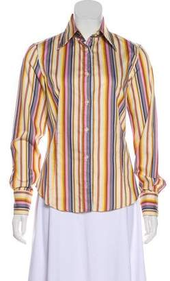 Etro Striped Long Sleeve Top