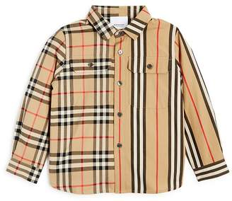 Burberry Boys' Amir Panelled Vintage Check & Icon Shirt - Little Kid, Big Kid