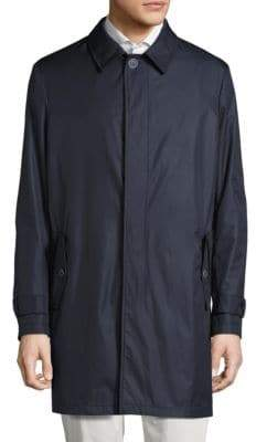 Saks Fifth Avenue COLLECTION Lightweight Wool Raincoat