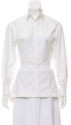 Alaia Longline Button-Up Top