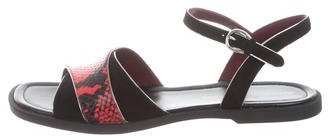 Marc by Marc Jacobs Snakeskin Ankle Strap Sandals w/ Tags