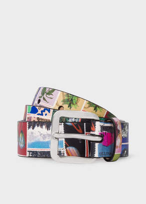 Paul Smith Women's 'Stamps' Print Leather Belt