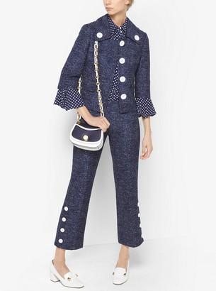 Michael Kors Denim Wool-Jacquard Jacket