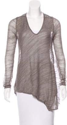 Helmut Lang Long Sleeve Knit Top