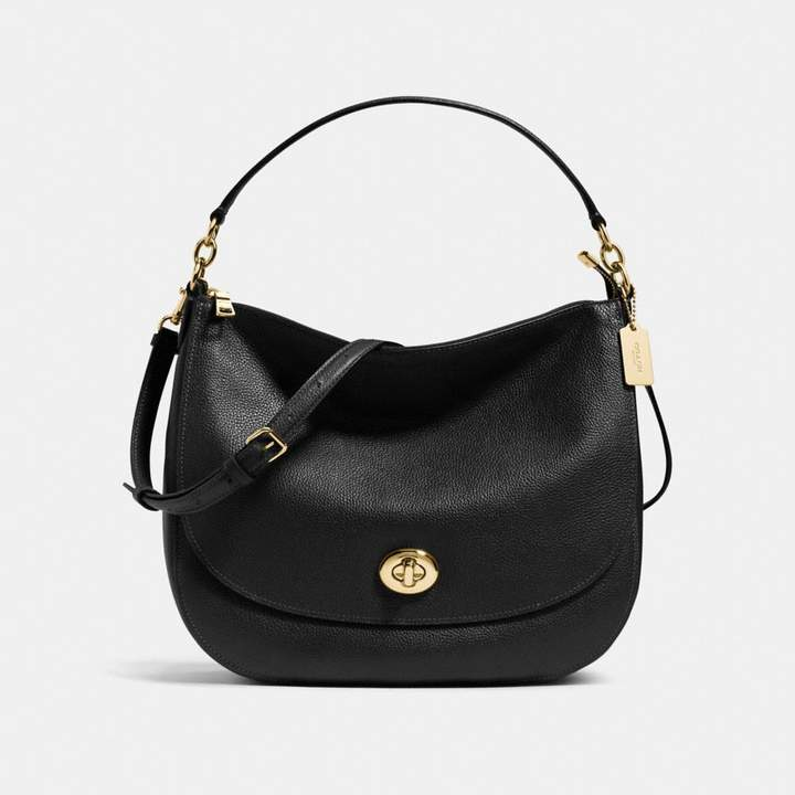 Coach New YorkCoach Turnlock Hobo - LIGHT GOLD/BLACK - STYLE