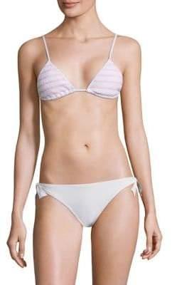 Bella Triangle Smocked Bikini Top